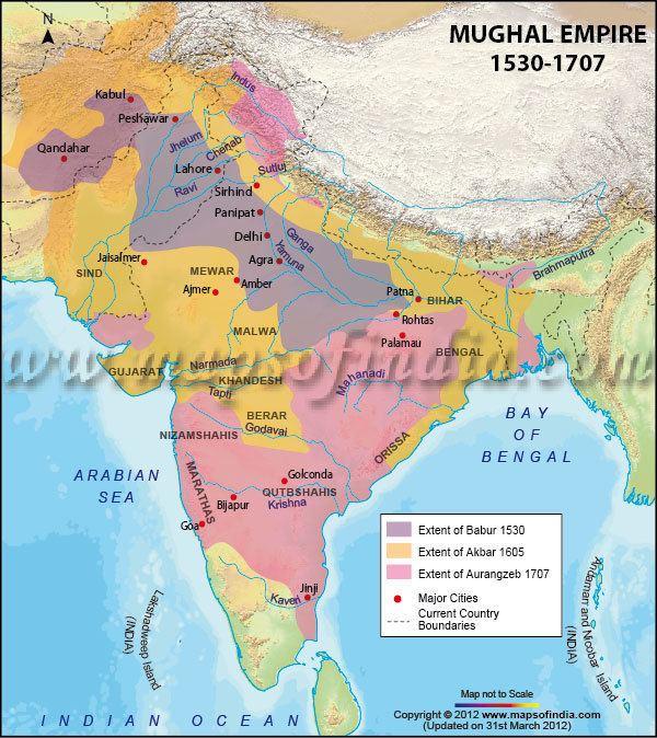 Mughal Empire Mughal Empire Map Mughal Empires
