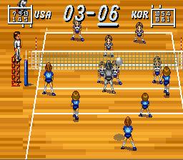 Multi Play Volleyball Play Multi Play Volleyball Online SNES Game Rom Super Nintendo