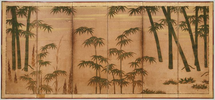 Muromachi period Bamboo in the Four Seasons Attributed to Tosa Mitsunobu 1975268