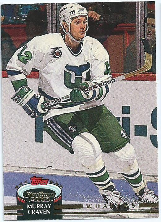 Murray Craven HARTFORD WHALERS Murray Craven 442 TOPPS 199293 Stadium Club NHL