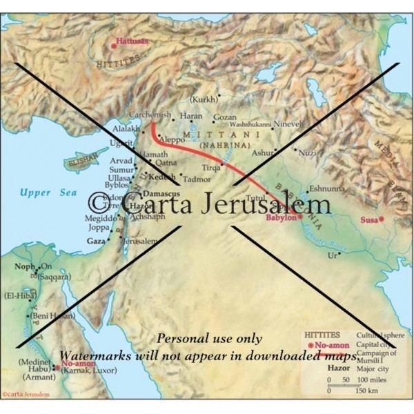 Mursili I Campaign by Mursili I destroys major Amurrite centers including