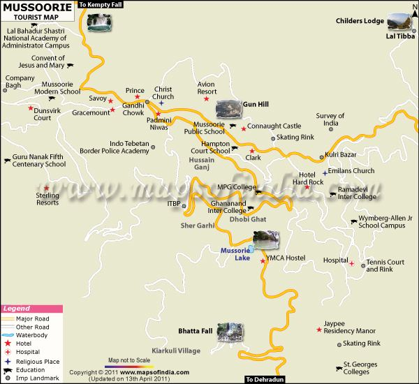Mussoorie Tourist places in Mussoorie