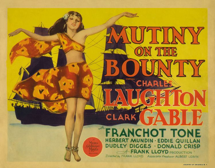 Mutiny on the Bounty (1935 film) 1935 Mutiny on the Bounty Film 1930s The Red List