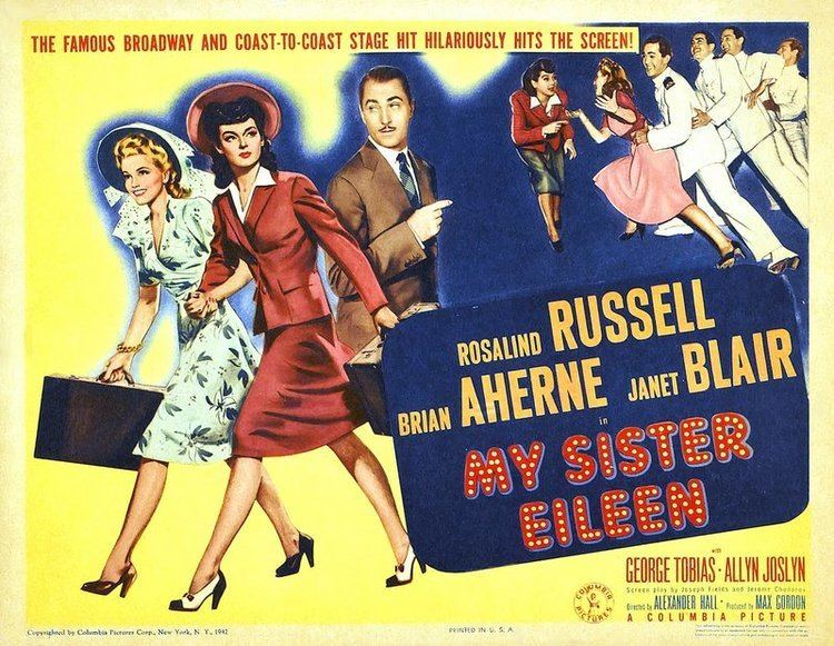 My Sister Eileen My Sister Eileen 1942 The Blonde at the Film