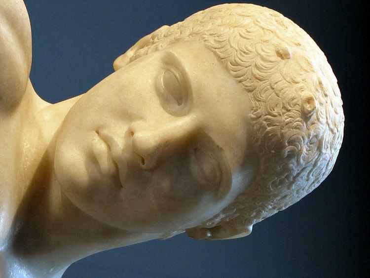 Myron Myron Discobolus detail of head Myron of Eleutherae Dis Flickr
