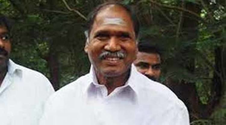 N. Rangaswamy Puducherry Rangasamy campaigns for AIADMK candidate in Nellithope