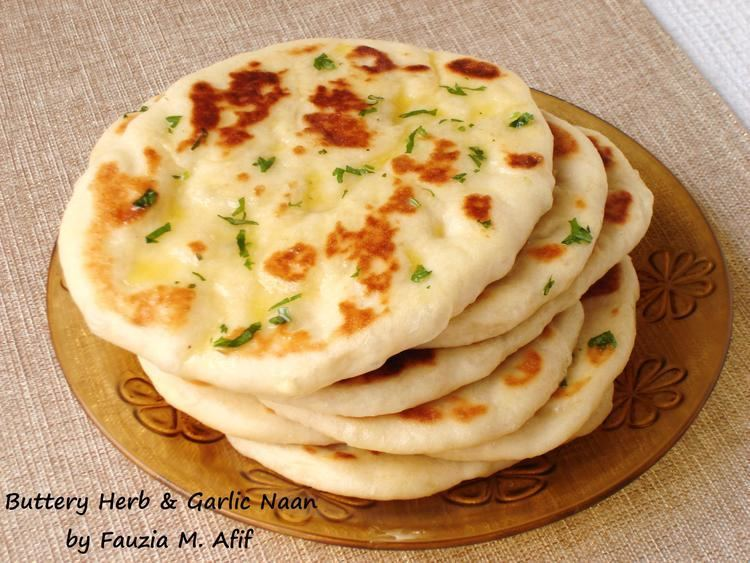 Naan Buttery Herb Garlic Naan Fauzia39s Kitchen Fun