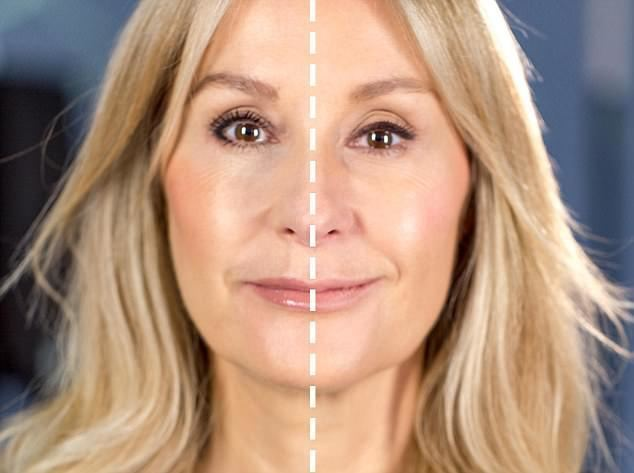 Nadine Baggott Can you tell which side of the face the makeup artist did Daily