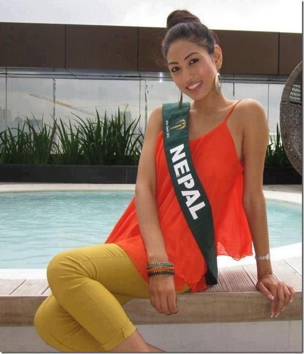 Nagma Shrestha Nagma Shrestha made it to Top 8 in Miss Earth 2012 7th