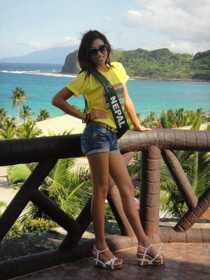 Nagma Shrestha Nagma Shrestha in Top eight of Miss Earth 2012 with Image