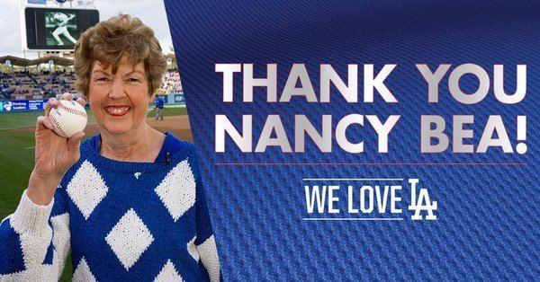 Nancy Bea Los Angeles Dodgers on Twitter quotThank you Nancy Bea