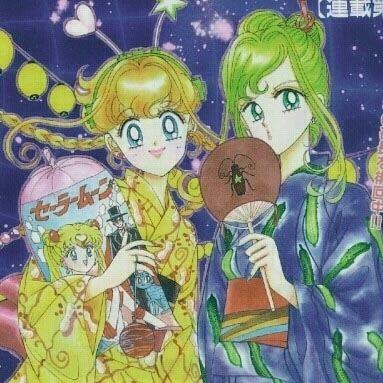 Naoko Takeuchi Art from PQ Angels series by manga artist Sailor Moon creator