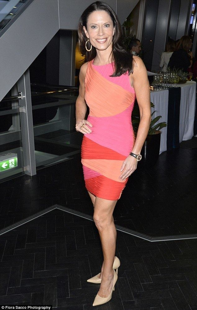 Naomi Robson Naomi Robson shows off fit figure in minidress at luxury