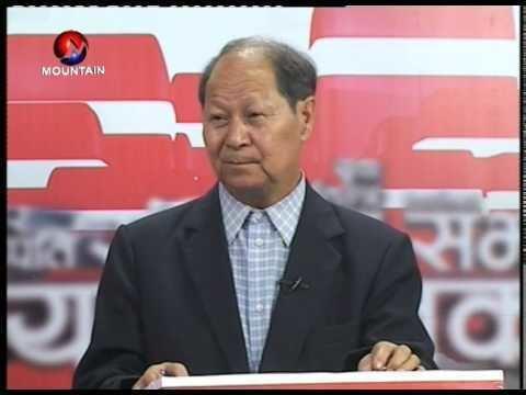 Narayan Man Bijukchhe TV Journalist Tej Psd Wagle with Politician Narayan Man Bijukchhe