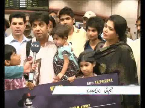 Naseem Vicky Comedian Actor Naseem Vicky Arrival Lahore After Winning TV Show