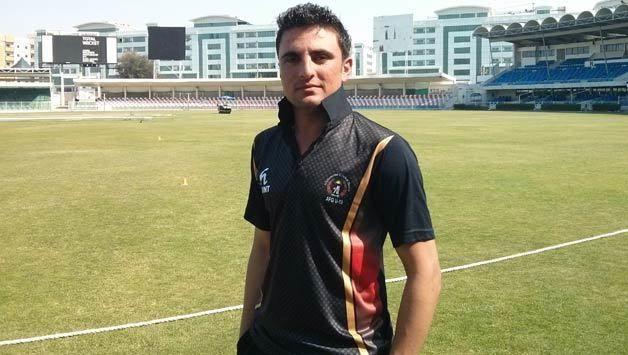 Nasir Jamal dismissed for 17 against England in ICC Cricket World