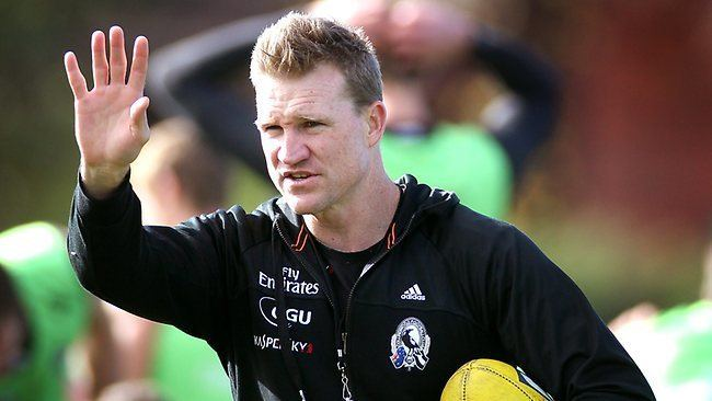 Nathan Buckley Collingwood coach Nathan Buckley urges Chris Judd wing