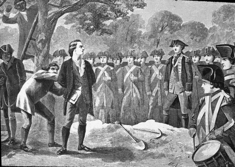 Nathan Hale Throwback Thursday 1776 Revolutionary Hero Nathan Hale is Hanged as