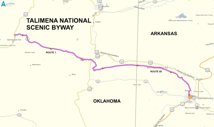 talimena drive oklahoma map National Scenic Byway Alchetron The Free Social Encyclopedia