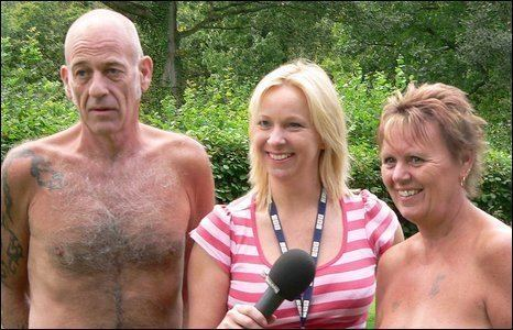 Faye Hatcher with naturists