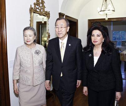 Nazik Hariri United Nations Photo SecretaryGeneral Meets Members of