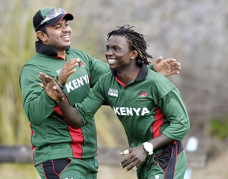 Nelson Odhiambo took 3 for 48 Photo ICC World Cricket League