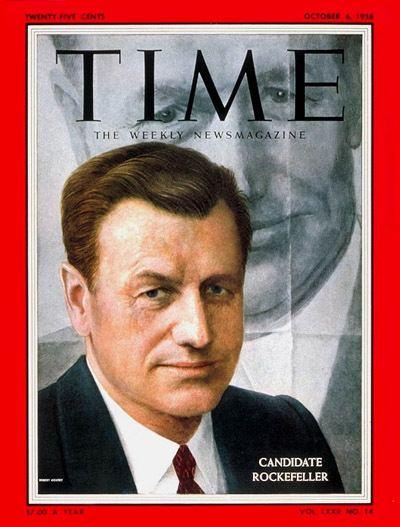Nelson Rockefeller TIME Magazine Cover Nelson Rockefeller Oct 6 1958