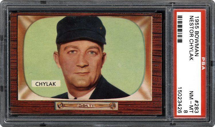 Nestor Chylak 1955 Bowman Nestor Chylak PSA CardFacts