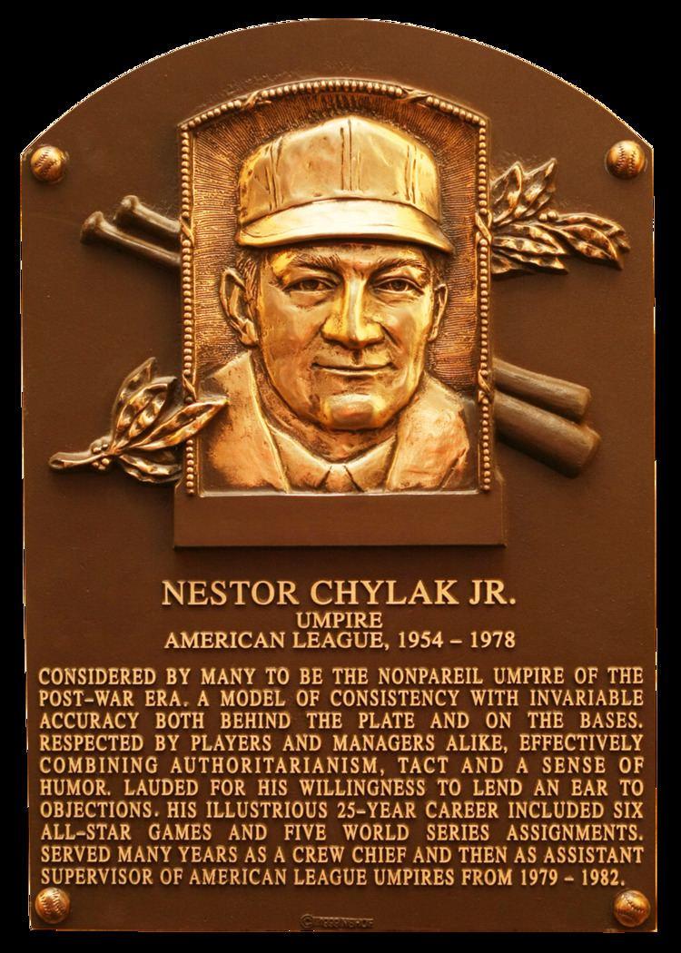 Nestor Chylak Chylak Nestor Baseball Hall of Fame