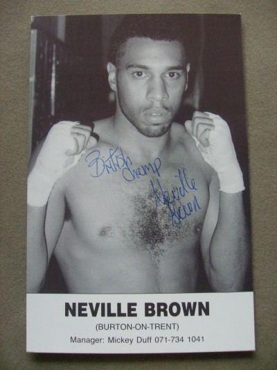Neville Brown Neville Brown Former British Middleweight Champion And Super