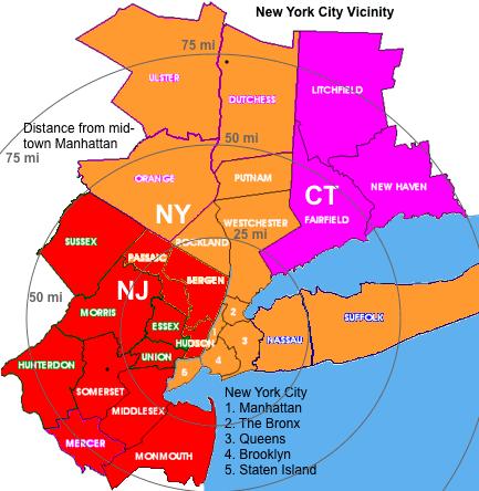 New York metropolitan area New York City and Newark Metro Area