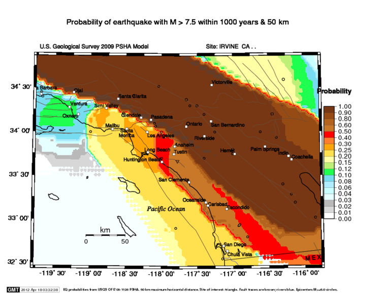Newport–Inglewood Fault Newport Inglewood Magnitude Probability Maps Energy Blog