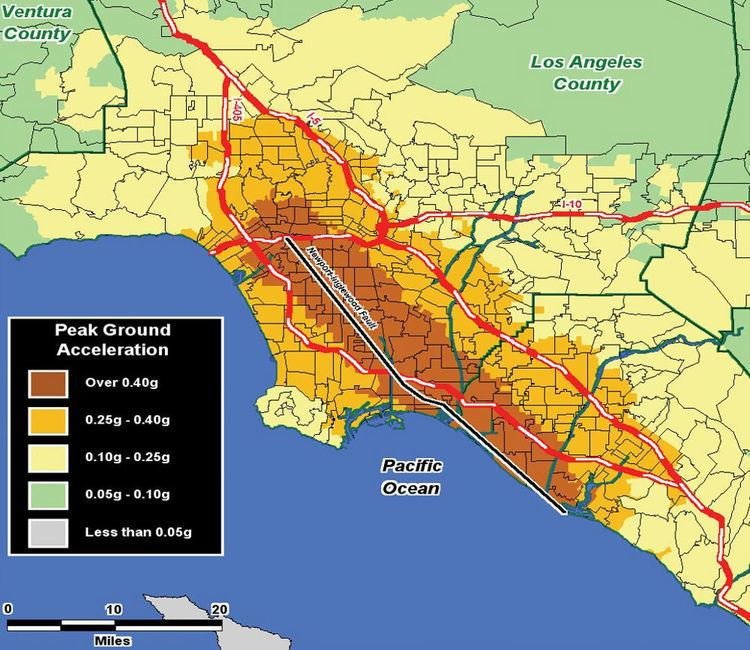 Newport–Inglewood Fault Subduction zones or expanding earth NewportInglewood fault zone
