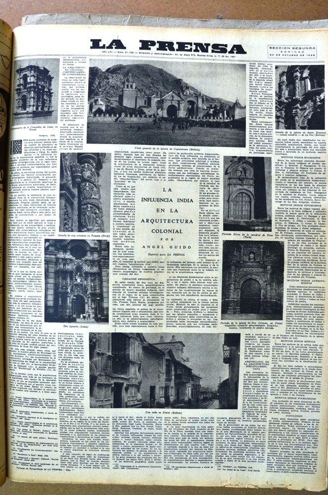 Ángel Guido NGEL GUIDO quotLa influencia india en la arquitectura colonial