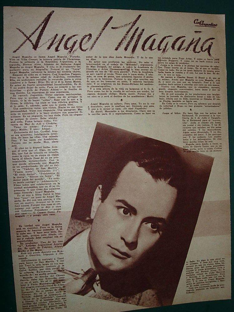 Ángel Magaña Angel Magaa Clipping Lamina Cine Argentino Actor Actores 6000