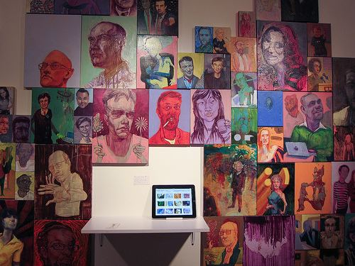 Nic Rad People Matter Art Show by NicRad Featuring 99 Portraits of