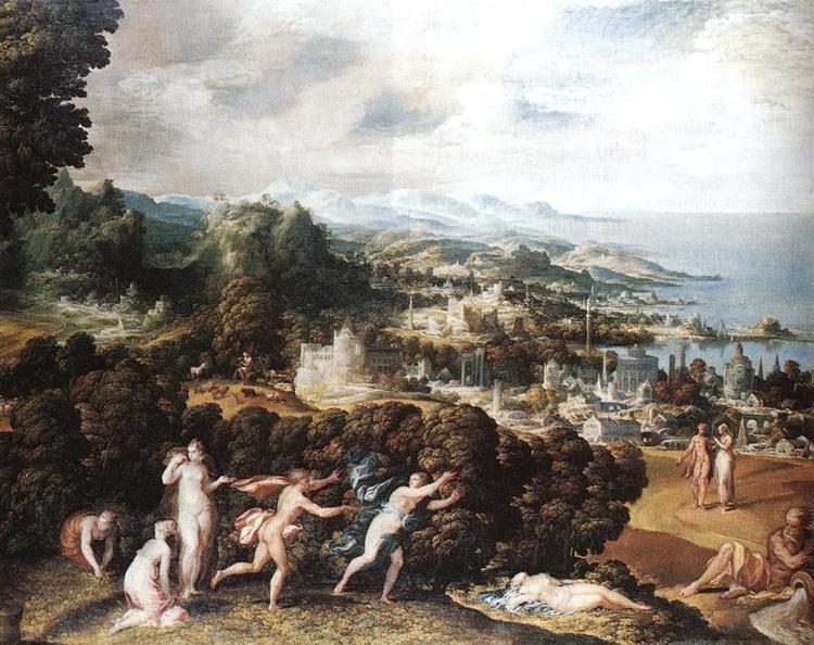 Niccolò dell'Abbate FileNicol dell39Abate Orpheus and Eurydice WGA00013jpg