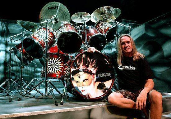 Nicko McBrain Nicko McBrain39s Iron Maiden Single Bass Drum Technique
