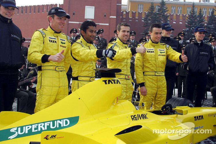 Nicky Pastorelli Robert Doornbos Narain Karthikeyan Tiago Monteiro and