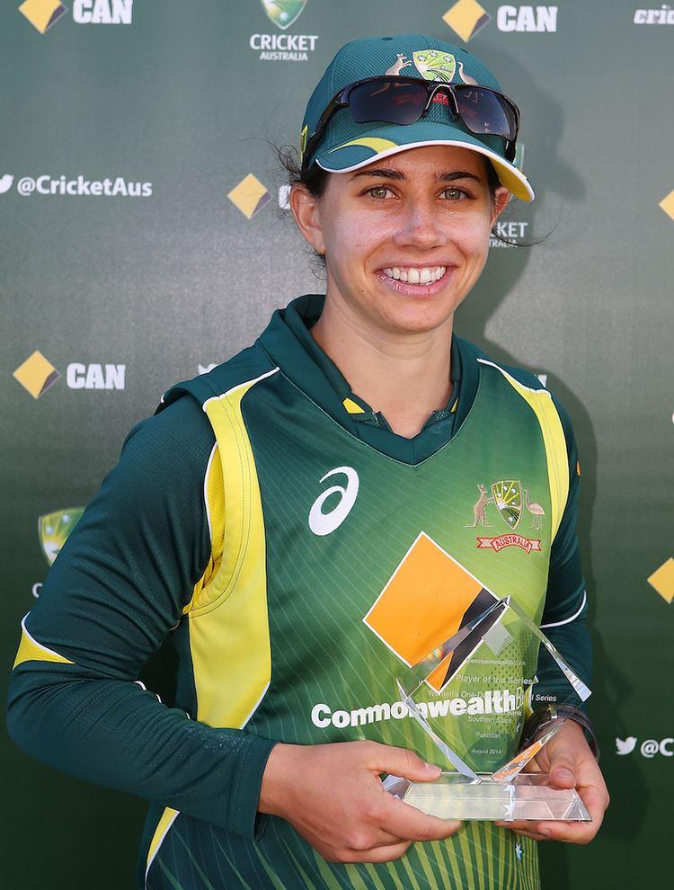 Nicole Bolton Nicole Bolton was named Player of the Series Australia v
