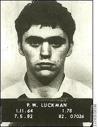 Paul Luckman with a placard