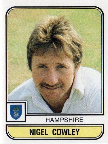 Nigel Cowley HAMPSHIRE Nigel Cowley 67 PANINI World of Cricket 83 1983 Cricket