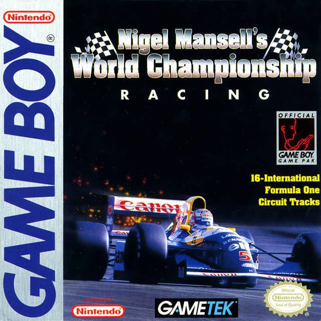 Nigel Mansell's World Championship Racing Nigel Mansell39s World Championship Racing Box Shot for Game Boy