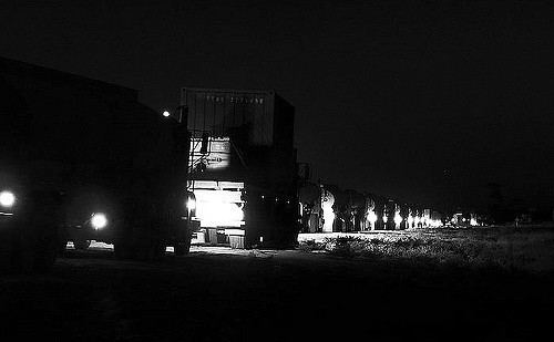 Night Convoy night convoy Shot was taken back in 2006 during my first t Lou