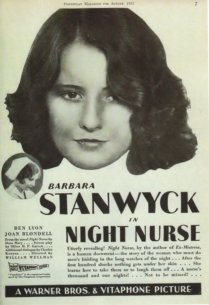Night Nurse (1931 film) Night Nurse 1931 Dear Mr Gable