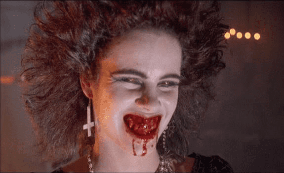 Night of the Demons (1988 film) movie scenes This movie is littered with a bunch of amazing scenes It s the type of movie where it s completely ok that a brother would comment on how nice his sister s