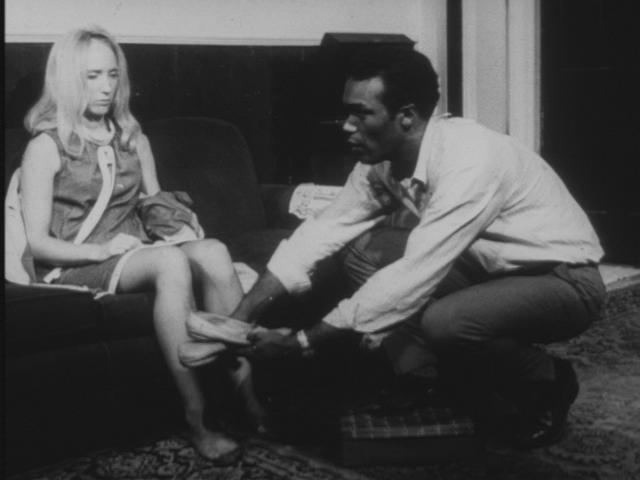 Night of the Living Dead movie scenes Some feminist writers have criticized the film for portraying Barbra the chief female character as helpless and virtually catatonic 68
