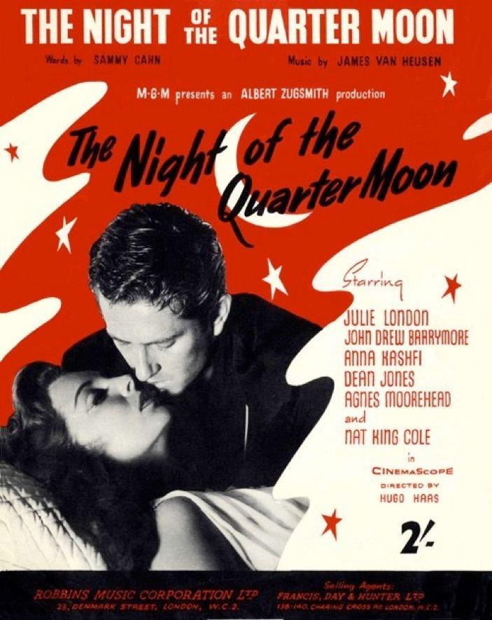 Night of the Quarter Moon 1959 Actress Julie London Anna Kashfi Film Night of The Quarter Moon