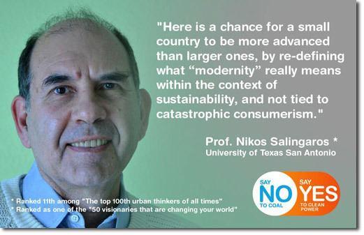 Nikos Salingaros Tenk langsiktig og lokalt intervju med Nikos Salingaros