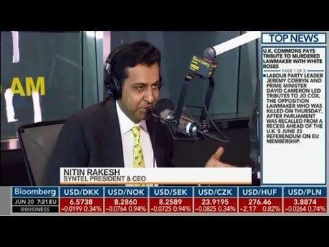 Nitin Rakesh Syntel CEO Nitin Rakesh on Bloomberg TV YouTube
